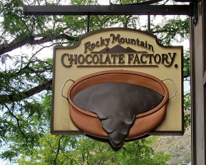 Rocky Mountain Chocolate sign