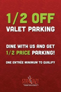1/2 off valet Stir Crazy Legacy